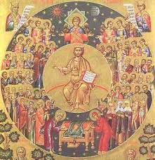 Christ with His Saints