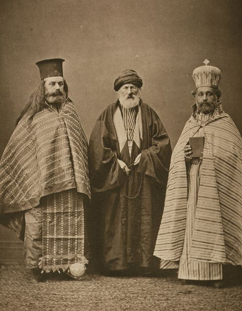 greek and aremanisn clergy with Turkish mullah