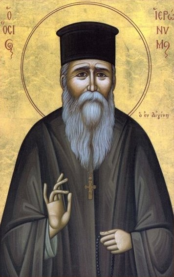 Icon of Saint Ieronymos of Aegina