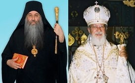 Metropolitan Chrysostomos of Etna and Bishop Sergios of Portland